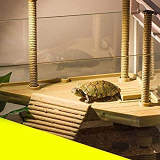 Habitat Decor - Multi Functional Turtle Drying Back Platform Climbing Perch Floating - Decor Habitat Book Picture Wall Snake Decorations Wood Decorating Frame Reptile