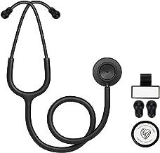 استتوسکوپ سر دو منظوره FriCARE برای پزشکان متخصص پزشکی ، صندوقچه آلومینیومی و هدست ، تمام لوله های مات سیاه