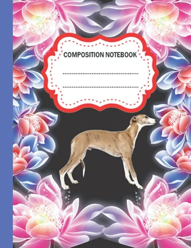 Greyhound Composition Notebook: Wide Ruled Paper Notebook Journal | Greyhound Composition Notebook For Students kids, teens, and adults