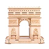 3D Wooden Puzzle Arc de Triomphe Building Kit for Adults and Kids Wood Art Models 3D Puzzle DIY Craft Set Kit for Self-Assembly No Glue or tools Required Diy Wood kits for Adults Wooden Model Kit