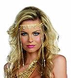Dreamgirl Women's Shimmer Rhinestone Headpiece, Gold, One Size