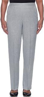 eac8eb4e152 Alfred Dunner Women s Lake Shore Drive Solid Pants - Short Length