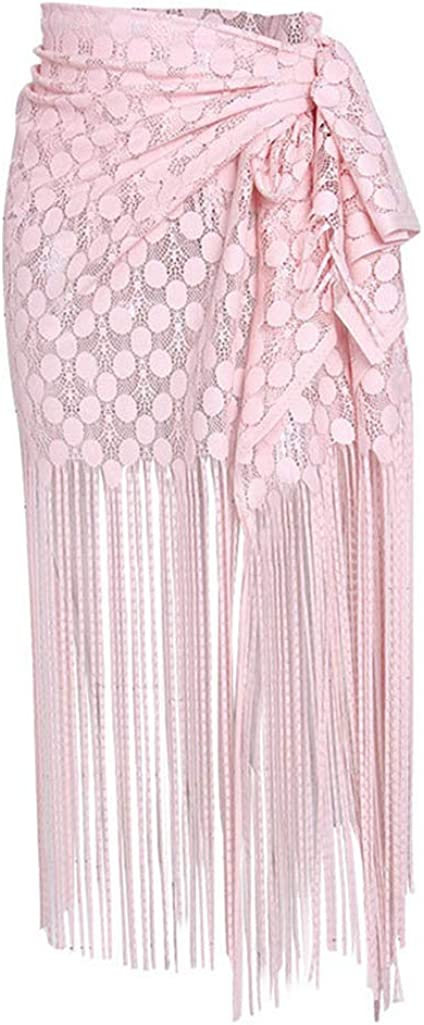 Women's Sexy Mermaid Scale Print Sarong Wrap Skirt Bikini Beach Cover up Swimsuit