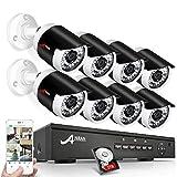 Kit de Caméra Sécurité ANRAN Système de Vidéo Surveillance 8CH 1080P POE NVR Enregistreur 8pcs...