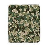 Ahomy Tagesdecke Camouflage warme weiche Kuscheldecke für Bett Couch Sofa Reise Auto 152,4 x 127 cm