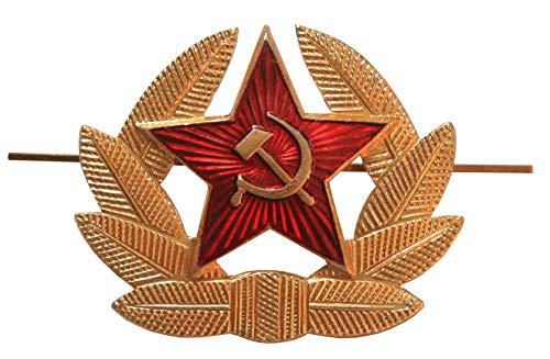 Ganwear® Ursprüngliche russische sowjetische rote Armee Militärstern UdSSR Cockade Kosaken Hut Metalll Brosche Abzeichen