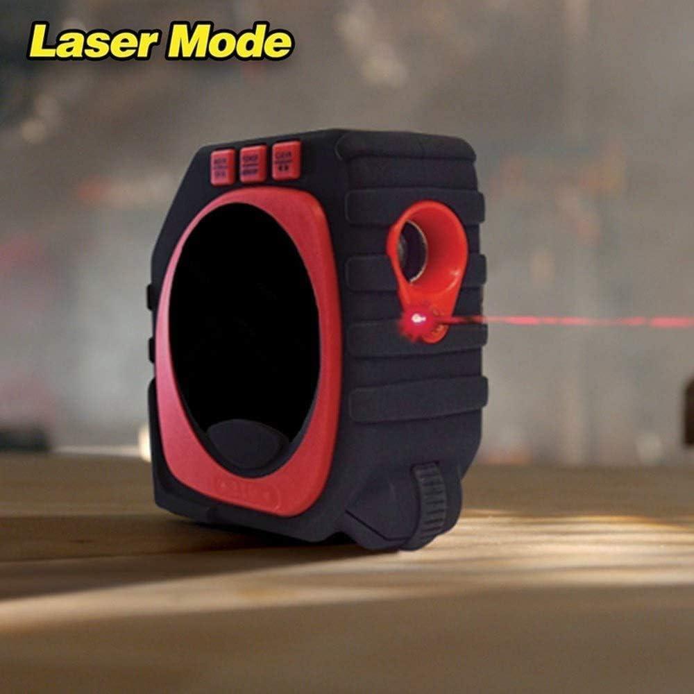 Color : Black, Size : Tape measure 3-in-1 Messlineal Drei-in-One-Ma/ßband Lasermesslineal LED Digital Display Ruler Infrarot Bandma/ß