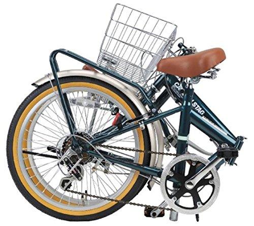 キャプテンスタッグ(CAPTAINSTAG)ファスター折りたたみ自転車FDB206シマノ6段変速/リモコンレバー付きLEDライト/サークル錠/リアキャリア/前後泥よけ/BAA標準装備シャイニーレッドYG-1207