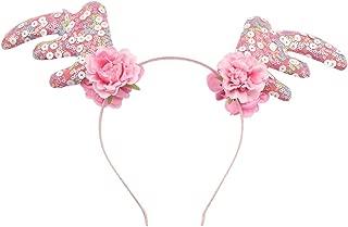 Christmas Reindeer Antlers Headbands Holiday Parties Headbands Hair Hoop Hair Decorations Headwear Costume Photo Props(Pink)