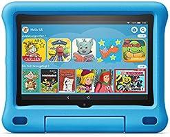 Voll ausgestattetes Tablet (kein Spielzeug) mit 8-Zoll-HD-Display und kindgerechter Hülle, Kindersicherung, 2 Jahren...