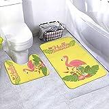 N/B Flamingo Bird Design On Background Vector Image Bad rutschfeste Bodenmatte cuarto Antirutsch-Polster esterillas para Innendekorationen Set 2 unidades adaptado