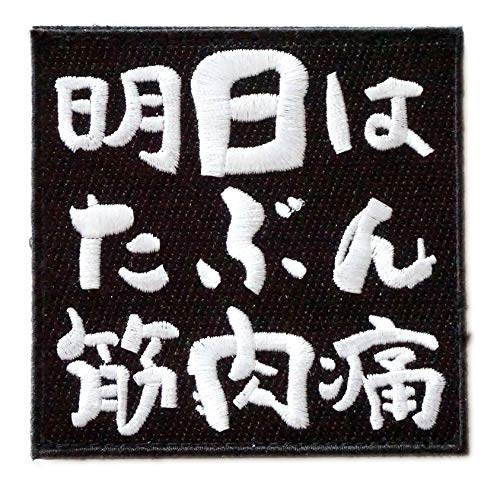 [Japan Import] Verclo Embroidered Morale Patch Kanji Japan Maybe My Muscle Pain Tomorrow A0425