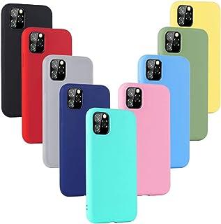 XinYue 9 x Funda para iPhone 11 Pro MAX, Cárcasa Silicona TPU, Funda Ultra-Delgado Flexible - [ Negro + Rojo + Rosa + Verde + Translúcido + Amarillo + Azul Claro + Verde Claro + Rosa Claro ]