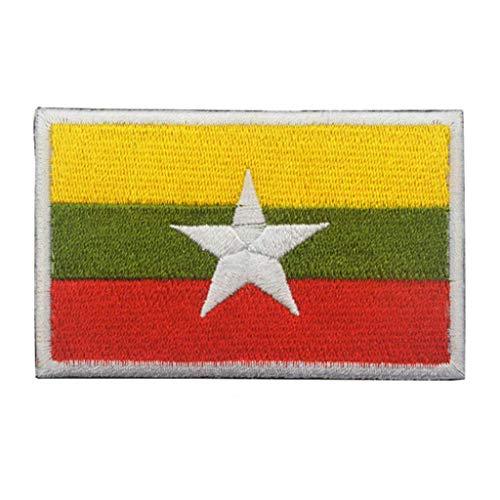ShowPlus Myanmar Flagge Patch Military Bestickt Taktischer Patch (Myanmar)