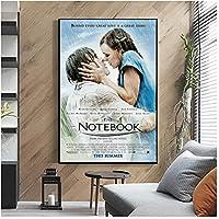 ノートブック映画ポスターカバーレトロホーム壁画装飾キャンバス額縁ギフト-60x90cmx1pcs-フレームなし