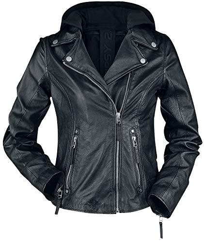 Gipsy Raja Slim Fit LEGV Frauen Lederjacke schwarz XS 100% Leder Basics, Biker, Casual Wear