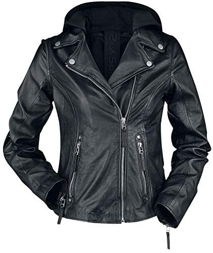 Gipsy Raja Slim Fit LEGV Frauen Lederjacke schwarz L 100% Leder Basics, Biker, Casual Wear