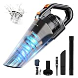 HONITURE Handheld Vacuum Car Vacuum 9000Pa Strong Cyclonic Suction Portable Hand Vac Cordless Rechargeable Li-ion Battery Dustbuster Lightweight Wet and Dry Vacuum Cleaner for Home and Car