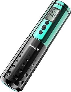 Mast Tattoo Pen Machine Draadloze Batterij LCD Display Rotary Tattoo Machine Groen Kleur
