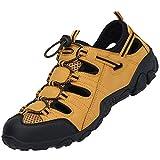 SAGUARO Sandalias de senderismo para hombre, cerradas, para verano, para mujer, transpirables., color Amarillo, talla 46 EU