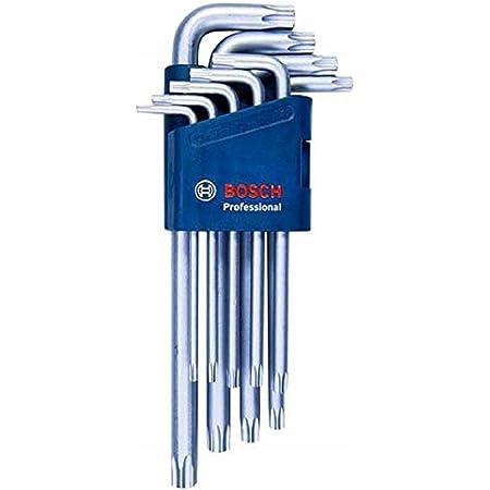 Bosch Professional 1600A01TH4 Set di Chiavi a Brugola, Blu, 9 Pezzi