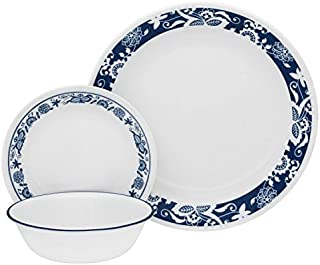 Corelle Livingware 32-Piece Dinnerware Set, True Blue, Service for 8 (Two 16-Piece Sets)