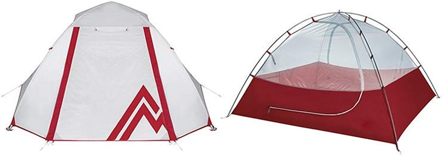 ZSN Tente de Camping en Plein air en Alliage d'aluminium Coupe-Vent et Anti-Pluie,rouge,2person