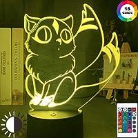 かわいいキララフィギュアLEDナイトランプ寝室の装飾用LEDタッチセンサーカラフルな3Dナイトライトユニークなアニメ犬夜叉ギフト