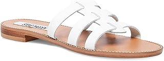 Steve Madden Women's Tammey Sandal, White Leather, 7.5 M US
