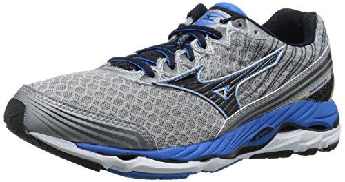 Mizuno Men's Wave Paradox 2 Running Shoe, Alloy/Black, 7 D US