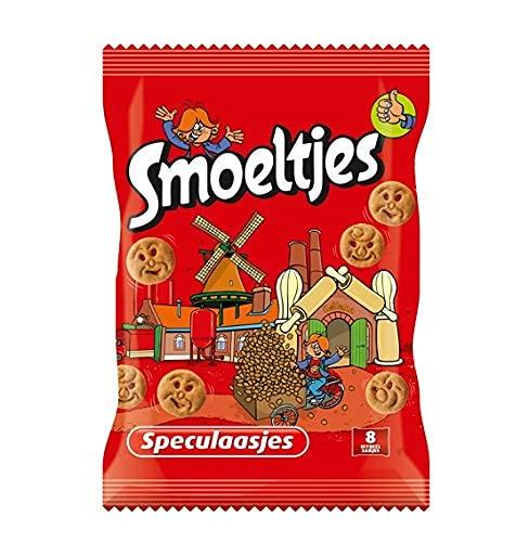 Smoeltjes Speculaas Koekjes 200 gram Vrolijke Mini Kinderkoekjes in de Vorm van Leuke Gezichtjes Cookies Verpakt in 8…