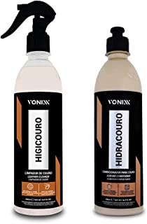 Kit Hidratante para Couro Hidracouro 500ml + Limpador de Couro Higicouro 500ml Vonixx