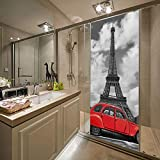 XLDYSC Vinilo infantil 3D para puerta W 88 x H 200 cm Hermosa torre de autos Extraíble impermeable DIY 3D pegatinas de puerta puerta decorativa mural calcomanías de pared decoración del hogar papel t