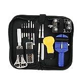Kits de reparación relojero reloj caja de herramientas portátil Watch Repair Tool Kit ajuste de correa Pin retorno battery case Opener Changer herramientas Collector