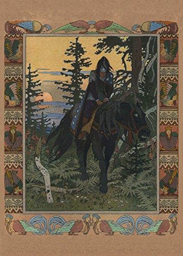 World of Art IWAN Jakowlewitsch Bilibin Wassilissa Alexejewna die Schöne C1900250GSM, Hochglanz, A3, vervielfältigtes Poster