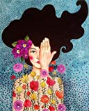 Pintura por números, kit de pintura a mano para niña, lienzo, arte de pared, cuadro acrílico Diy, pintura al óleo por números, decoración del hogar, regalo A7 40x60cm