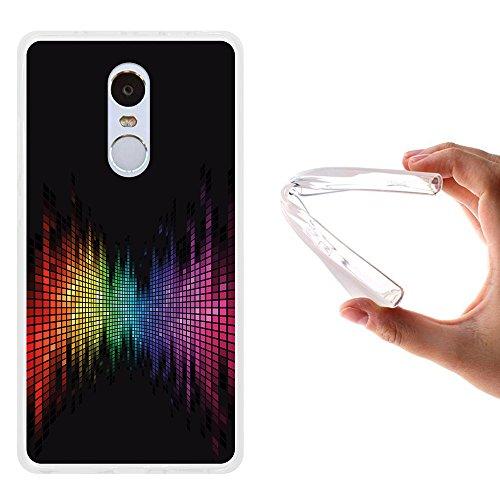 WoowCase Funda Xiaomi Redmi Note 4, [Xiaomi Redmi Note 4 ] Funda Silicona Gel Flexible Arco Iris Efecto Ecualizador, Carcasa Case TPU Silicona - Transparente