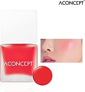 [ACONCEPT] Cheek Me 10g (#3 Kiss me) - Watercolor Cheek Liquid Blusher, Easy to Blush Makeup, Not Sticky Fresh Oil Base Water Fit Texture, Natural Daily Color