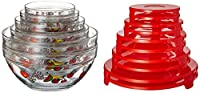 20pc Glass Bowl Set with Fruit Decal