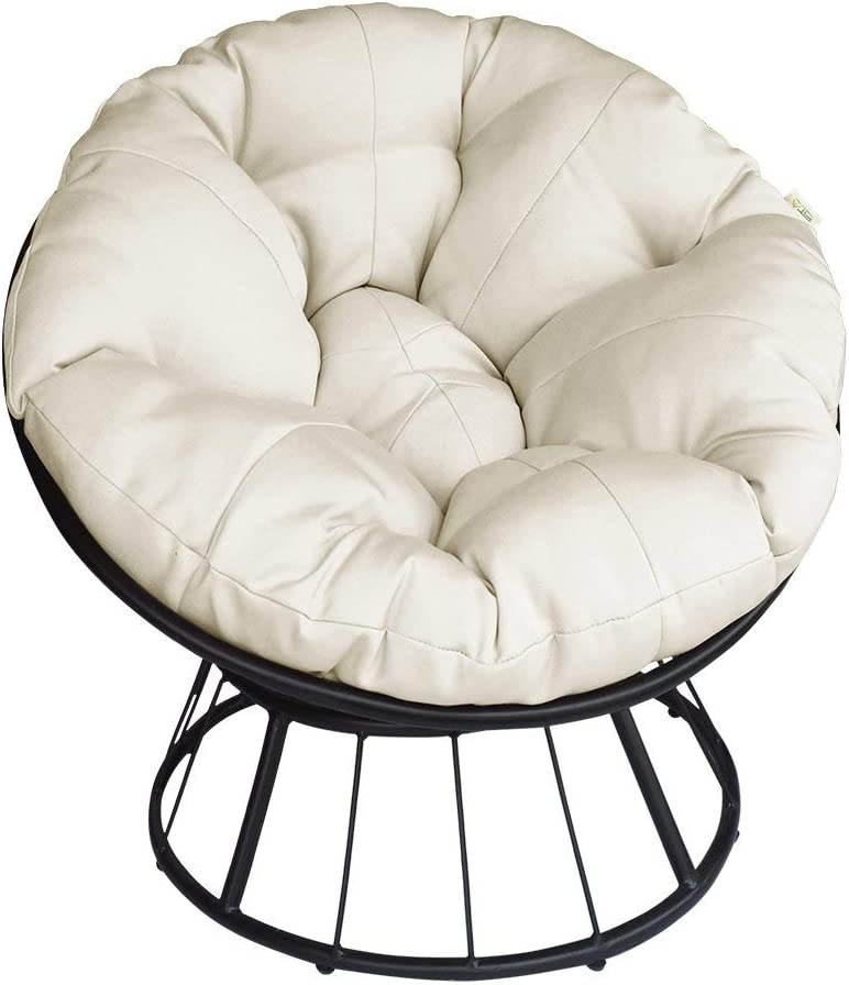 Papasan Chair 360-degree Swivel Outdoor with Beig Max 55% Max 63% OFF OFF