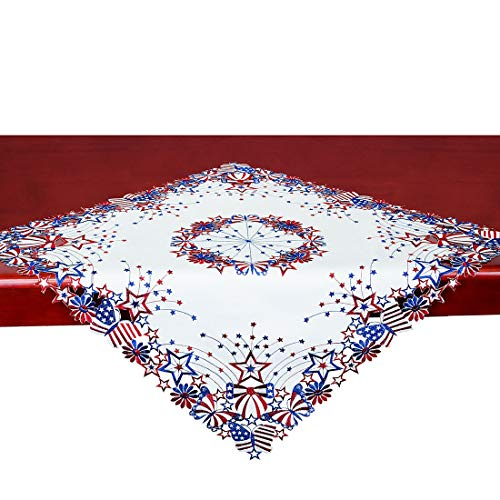 July 4th Patriotic 33-Inches Square Tablecloth