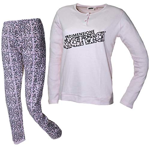 Dimensione Danza Schlafanzug für Damen, Mädchen, warm, Baumwolle, Interlock, Puder...