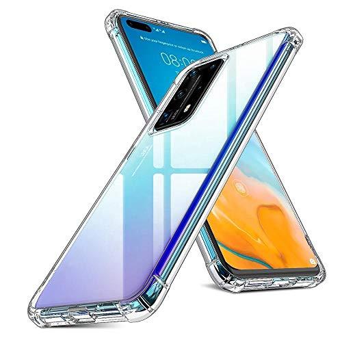 Oududianzi Funda para Huawei P40 Pro, [Refuerzo de Cuatro Esquinas] Estuche de Silicona TPU Ultradelgado Transparente Absorción de Golpes Antiarañazos para Estuche Huawei P40 Pro - Transparente