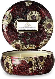 Voluspa ボルスパ ジャポニカ リミテッド 3-Wick ティンキャンドル  ゴージ&タロッコオレンジ GOJI & TAROCCO ORANGE JAPONICA Limited 3-ウィック Tin Glass Candle