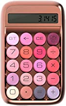 $180 » Calculator Women Girls Candy Buttons Mechanical Desk Calculator Desktop Calculator for School Home Office Standard Calculator (Color : Rose Gold, Size : Free Size)
