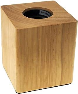 ECOBELLE® Portalámpara con casquillo E27, Base de madera, cuadrado 80x80x90mm, con conector EU estándar 2 pin y cable de 1.5m, 230V, ideal para mesita de noche/sala de estar/muebles de escritorio