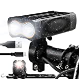 Victagen Bike Light,Bike Headlight and Tail Light Set,Super Bright 2400 Lumens Bicycle Light and Free Rear Light,USB Rechargeable & Waterproof, Easy to Mount Fits for MTB Bikes Bicycles Road Cycling