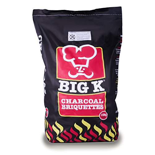10kg Premium Long Lasting Charcoal Briquettes for Summer Bank Holiday BBQ Cooking/Tandoori & Turkish Ovens/Grilling - Comes with THE LOG HUT® Woven Sack