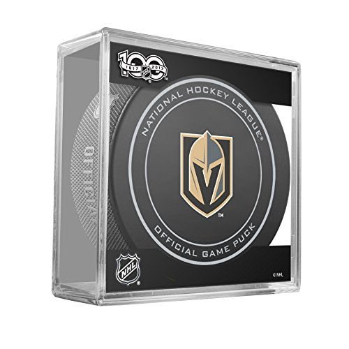 Inglasco NHL Vegas Knight Regular Season 960T 2017 100TH Back Logo Inaugural Season 2017-18 Official Game Puck