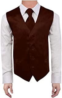 kids brown leather vest